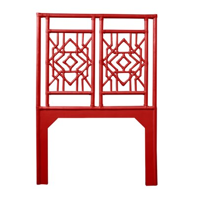 Tulum Twin Open-Frame Headboard Color: Fire Red