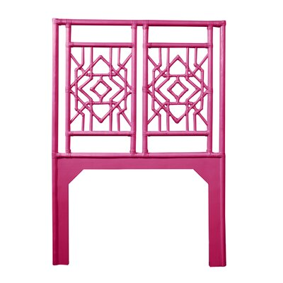 Tulum Twin Open-Frame Headboard Color: Hot Pink