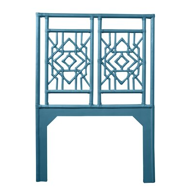 Tulum Twin Open-Frame Headboard Color: Pacific Blue