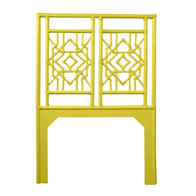 Tulum Twin Open-Frame Headboard Color: Sunflower Yellow