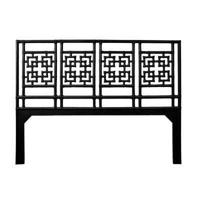 Palm Springs Open-Frame Headboard Size: King, Color: Black