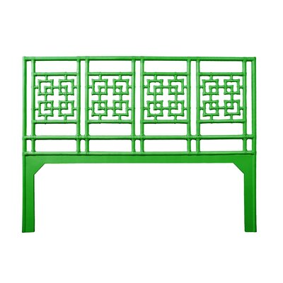 Palm Springs Open-Frame Headboard Size: King, Color: Bright Green