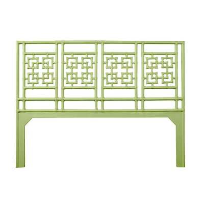 Palm Springs Open-Frame Headboard Size: King, Color: Celery Green
