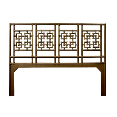 Palm Springs Open-Frame Headboard Size: King, Color: Coffee Brown