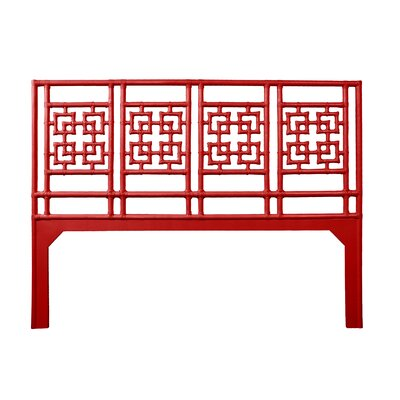 Palm Springs Open-Frame Headboard Size: King, Color: Fire Red