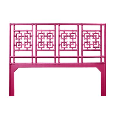 Palm Springs Open-Frame Headboard Size: King, Color: Hot Pink