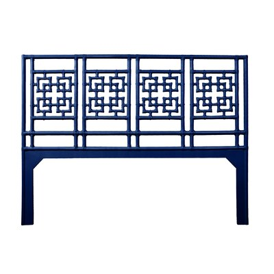 Palm Springs Open-Frame Headboard Size: King, Color: Navy Blue