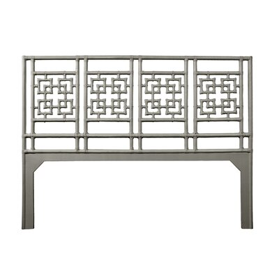 Palm Springs Open-Frame Headboard Size: King, Color: Steel Gray