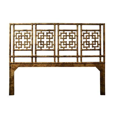 Palm Springs Open-Frame Headboard Size: Queen, Color: Tortoise Shell