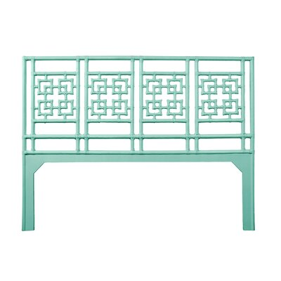 Palm Springs Open-Frame Headboard Size: King, Color: Turquoise
