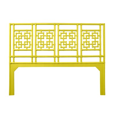 Palm Springs Open-Frame Headboard Size: King, Color: Sunflower Yellow