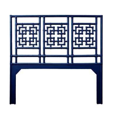 Palm Springs Queen Open-Frame Headboard Color: Navy Blue