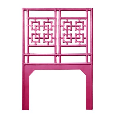 Palm Springs Twin Open-Frame Headboard Color: Hot Pink