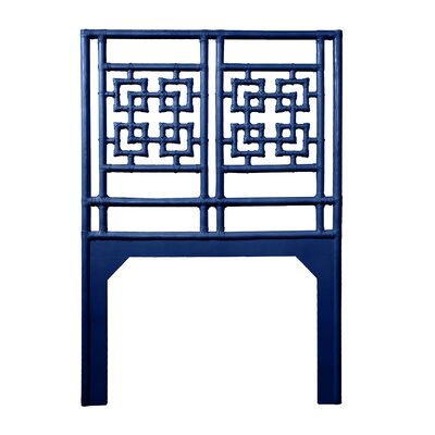 Palm Springs Twin Open-Frame Headboard Color: Navy Blue
