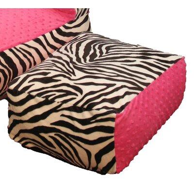 Hot Pink Zebra Ottoman