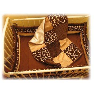 Buy low price ozark mountain kids giraffe porta 4 piece for Mountain crib bedding