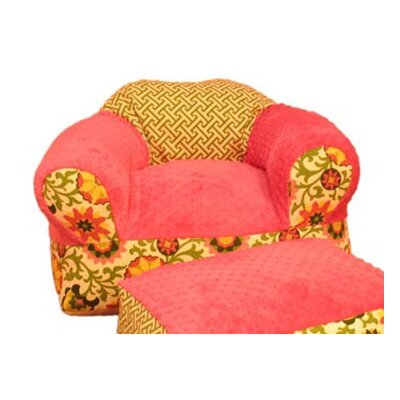 Furniture kids furniture chair hot pink chair for Kids overstuffed chair