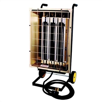 Portable (Cart) Electric 20,478 BTU Heavy Duty Infrared Heater