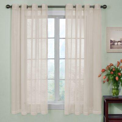 Odor Neutralizing Voile Solid Sheer Grommet Single Curtain Panel