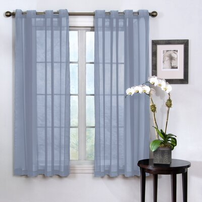 Grommet  Curtains on Odor Neutralizing Voile Grommet Sheer Window Curtain Panel In