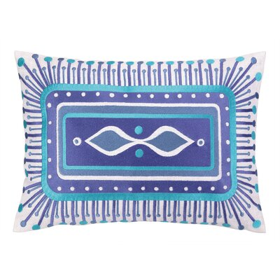 Jennifer Paganelli Embroidered Lumbar Pillow Color: Blue
