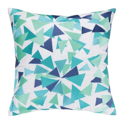 Sis Boom Embroidered Throw Pillow Color: Turquoise / Green