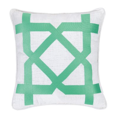 Sis Boom Embroidered Throw Pillow Color: Green