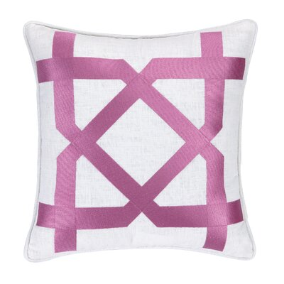 Sis Boom Embroidered Throw Pillow Color: Pink