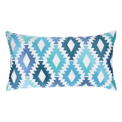 Sis Boom Embroidered Throw Pillow Color: Blue