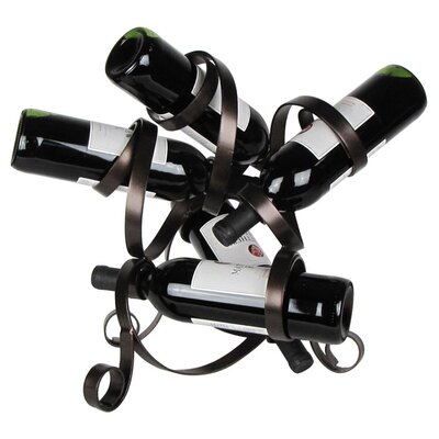 5 Bottle Tabletop Wine Rack Finish: Meteor