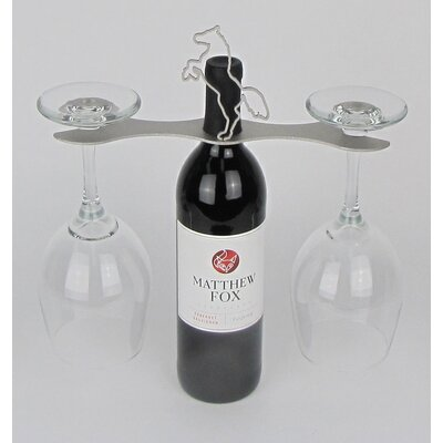 Laser Cut Steel Stall 1 Bottle Tabletop Wine Rack Finish: Nickel