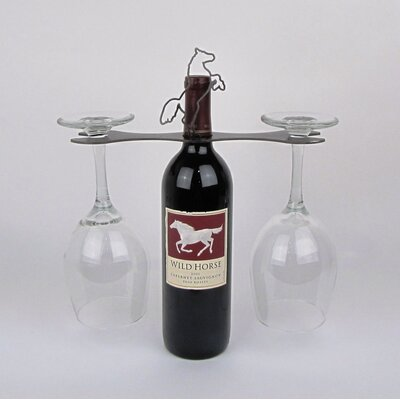 Laser Cut Steel Stall 1 Bottle Tabletop Wine Rack Finish: Natural Steel Lacquered