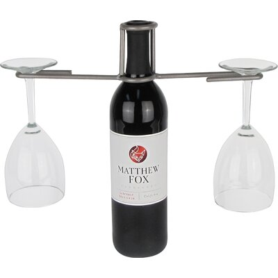Industrial Evolution 1 Bottle Tabletop Wine Rack Color: Pewter
