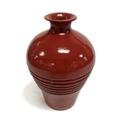 Small Neck Ribbed Vase 53081