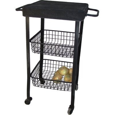 Rolling Utility Kitchen Cart with Stainless Steel Top
