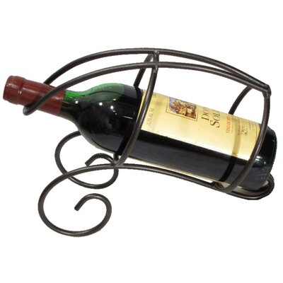 French Vineyard 1 Bottle Tabletop Wine Rack Finish: Meteor