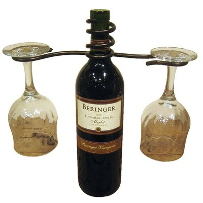 1 Bottle Tabletop Wine Rack Finish: Meteor