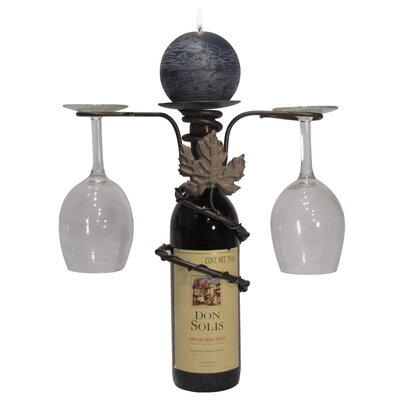 Grapevine 1 Bottle Tabletop Wine Rack Finish: Meteor