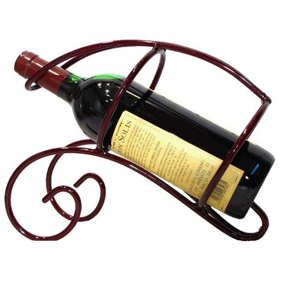 French Vineyard 1 Bottle Tabletop Wine Rack Finish: Merlot