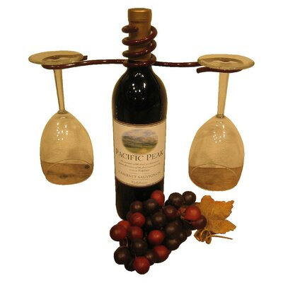 1 Bottle Tabletop Wine Rack Finish: Merlot