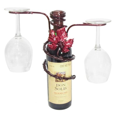 Grapevine 1 Bottle Tabletop Wine Rack Finish: Merlot