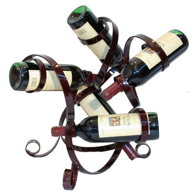 5 Bottle Tabletop Wine Rack Finish: Merlot