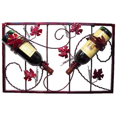 French Vineyard 2 Bottle Wall Mounted Wine Rack