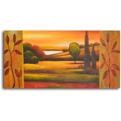 Pasture to Lake Original Painting on Wrapped Canvas