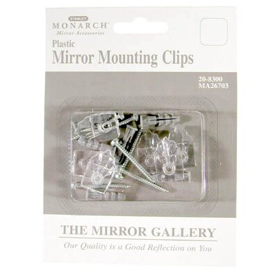 Plastic Mirror Mounting Clip 6 Pack