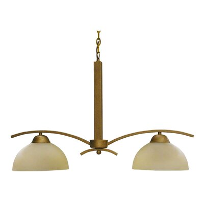 Mickayla 2-Light Kitchen Island Pendant Shade Color: Autumn Sunset, Finish: Burnt Copper