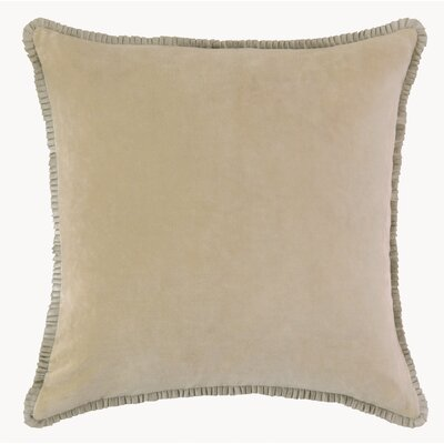 Larissa Velvet Throw Pillow Color: Driftwood