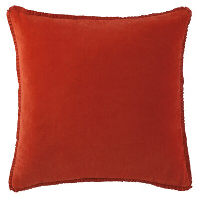 Larissa Velvet Throw Pillow Color: Poppy