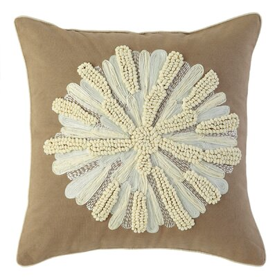 Asters 100% Cotton Throw Pillow Color: Driftwood