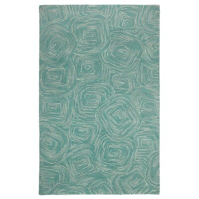 Paint The Town Lake Swirling Blue Area Rug Rug Size: 1 x 1